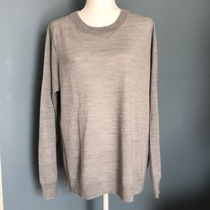 J.Crew Factory Merino Wool Sweater Silver Grey